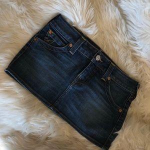 True Religion Jean Mini Skirt